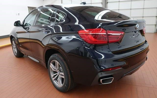 2018 BMW X6 black rear view